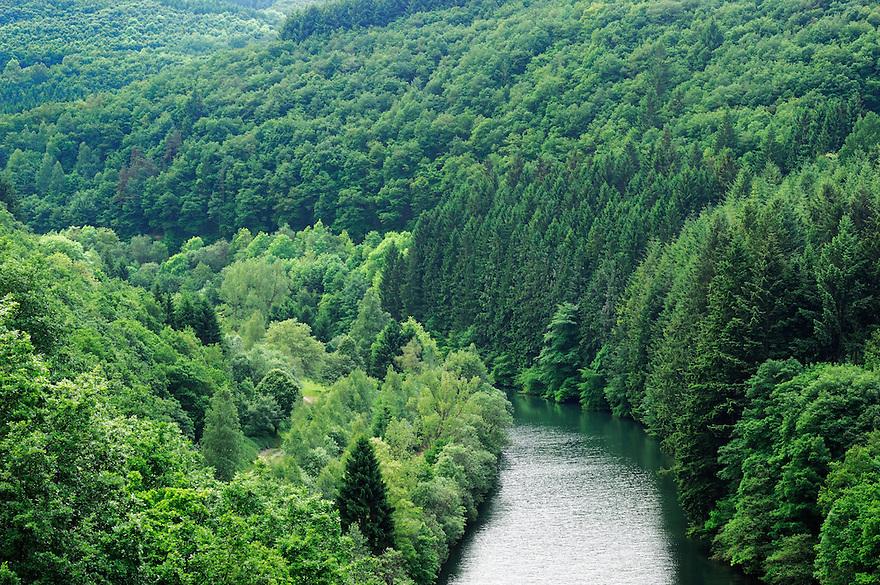 View from Esch-Sur-Sûre Dam, Ardennes, Luxembourg