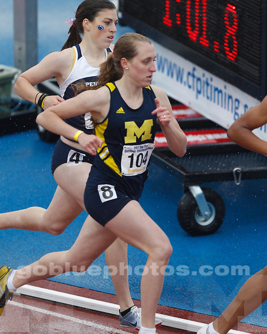 University of Michigan women's track and field on Day 2 of the 2011 Big Ten Championships hosted by the University of Iowa on May 13th, 2011.