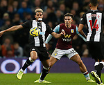 Joelinton of Newcastle United marked by Jack Grealish of Aston Villa during the Premier League match at Villa Park, Birmingham. Picture date: 25th November 2019. Picture credit should read: Darren Staples/Sportimage