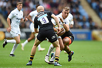 Jack Walker of Bath Rugby takes on the Wasps defence. Aviva Premiership match, between Wasps and Bath Rugby on October 1, 2017 at the Ricoh Arena in Coventry, England. Photo by: Patrick Khachfe / Onside Images
