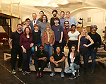 """Erika Olson, Conor Ryan and Jonny Amies with the castduring the Sneak Peak Meet the cast and creative team of the World Premiere production of """"My Very Own British Invasion"""" on January 16, 2019 at the Church of Saint Paul The Apostle in New York City."""