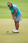 CHON BURI, THAILAND - FEBRUARY 17:  Christina Kim of USA putts on the 18th green during day two of the LPGA Thailand at Siam Country Club on February 17, 2012 in Chon Buri, Thailand.  Photo by Victor Fraile / The Power of Sport Images