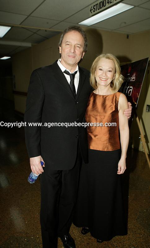 Montreal (Qc) CANADA - March 29 2009 - Jutras award  Gala (for Quebec Cinema) : Michel Cote , Veronique LeFlaguais