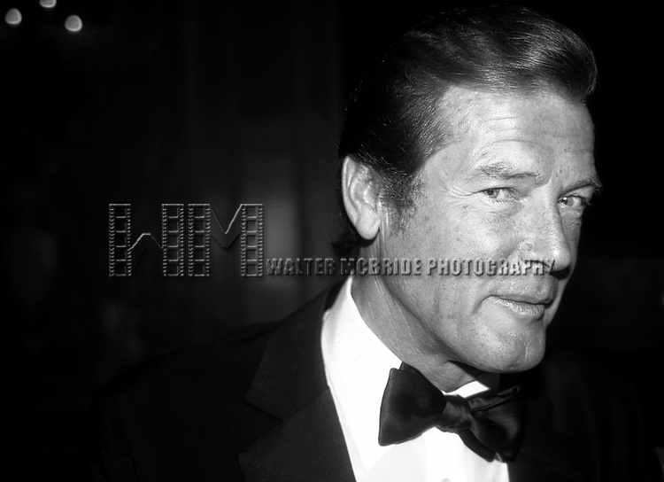 Roger Moore attending Friars Club Roast at the waldorf Astoria Hotel, New York City on May 1, 1983
