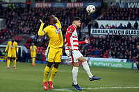Paul Downing of Doncaster Rovers and Michy Batshuayi of Crystal Palace during Doncaster Rovers vs Crystal Palace, Emirates FA Cup Football at the Keepmoat Stadium on 17th February 2019