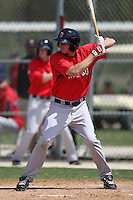March 18, 2010:  Mitch Dening of the Boston Red Sox organization during Spring Training at Ft.  Myers Training Complex in Fort Myers, FL.  Photo By Mike Janes/Four Seam Images