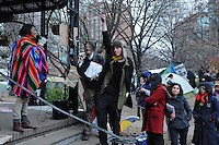 November 21, 2011, following the decision handed down this morning's by Ontario Superior Court judge David Brown, upholding the Occupy Toronto tent camp eviction, a speaker known as Grandma addresses the noon hour general assembly today at St. James Park Toronto.