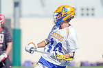 Santa Barbara, CA 04/16/16 - Kai  Welsh (UCSB #44) in action during the final regular MCLA SLC season game between Chapman and UC Santa Barbara.  Chapman defeated UCSB 15-8.
