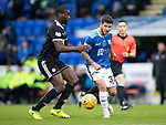 St Johnstone v Hamilton Accies&hellip;10.11.18&hellip;   McDiarmid Park    SPFL<br />Matty Kennedy and Delphin Tshiembe<br />Picture by Graeme Hart. <br />Copyright Perthshire Picture Agency<br />Tel: 01738 623350  Mobile: 07990 594431