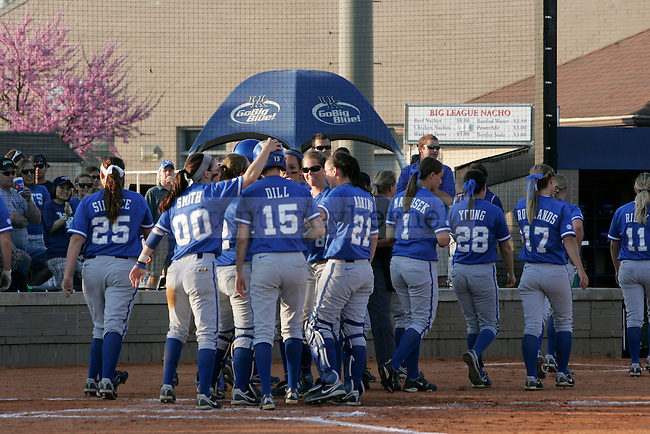 The UK softball team plays Western Kentucky University at Soccer and Softball Complex on Wednesday, April 14, 2010. Photo by Will Baldon | Staff