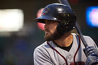 Quad Cities River Bandits center fielder Ross Adolph (9) during a Midwest League game against the Fort Wayne TinCaps at Parkview Field on May 3, 2019 in Fort Wayne, Indiana. Quad Cities defeated Fort Wayne 4-3. (Zachary Lucy/Four Seam Images)
