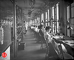 Workers at the New England Watch Co. in Waterbury, 1905.