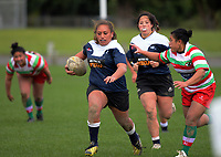 Action from the Wellington women's Fleur's Trophy club rugby union match between Petone and Hutt Old Boys Marist at Petone Rec in Wellington, New Zealand on Saturday, 13 May 2017. Photo: Dave Lintott / lintottphoto.co.nz