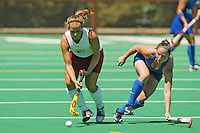 30 August 2005: Julia Drewes during Stanford's 5-1 loss to Delaware at the Varsity Turf Field in Stanford, CA.