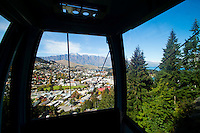 This photo was taken in one of the gondolas on the way into the mountains at Queenstown, South Island, New Zealand. Once at the top, not only are you presented with the most incredible views over the whole of Queenstown and Lake Wakatipu, but you also have the option to go Luging, try a bungee jump or risk the skyswing!
