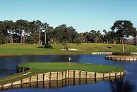 """The Player's Golf Course, famous """"island hole"""" No. 17, Ponte Verde Beach, Florida. Ponte Verde Beach, Florida."""