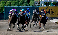 OCEANPORT, NJ - JULY 29: Name Changer, #5, ridden by Jose Ortiz, wins the Monmouth Cup on Haskell Invitational Day at Monmouth Park Race Course on July 29, 2018 in Oceanport, New Jersey. (Photo by Dan Heary/Eclipse Sportswire/Getty Images)