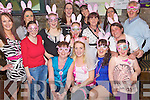 Bunny Hens - Christine Dennehy from Balloonagh, seated centre having a ball with friends and family on her hen night in The Greyhound Bar on Saturday. Christine is marrying Nigel Capper from Dublin in June. Seated l/r Helen, Christine and Marie Dennehy. Standing l/r Catriona Harrington, Annette Roche Jenny Griffin, Danielle O'Sullivan, Liz Fitzgerald, Regina Dennehy, Siobhan Fitzgerald, Anita Capper, Anjela Fitzgerald, Teresa Roche, Amy Roche and Aidan O'Connor........................................................................................................................................................................................................................................................................................................ ............