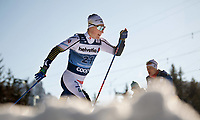 1st January 2020, Toblach, South Tyrol , Italy;  Jens Burman of Sweden competes in the mens 15 km classic technique pursuit during Tour de Ski on January 1, 2020 in Toblach.