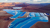 Potash ponds near Moab, Utah, Solar evaporation ponds near Colorado River
