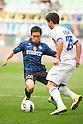 "Yuto Nagatomo (Inter), Kamil Vacek (Chievo), OCTOBER 23, 2011 - Football / Soccer : Italian ""Serie A"" match between Inter Milan 1-0 Chievo at Stadio Giuseppe Meazza in Milan, Italy. (Photo by Enrico Calderoni/AFLO SPORT) [0391]"