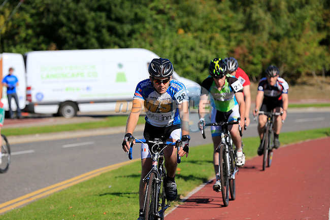 Round1 of the Fixx Coffee House Cyclocross Series 2013 the B group held in Grange Park, Dublin, Ireland. 22nd September 2013.<br /> (Photo:Eoin Clarke/www.newsfile.ie)