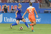 Frisco, TX - Sunday September 03, 2017: Merritt Mathias during a regular season National Women's Soccer League (NWSL) match between the Houston Dash and the Seattle Reign FC at Toyota Stadium in Frisco Texas. The match was moved to Toyota Stadium in Frisco Texas due to Hurricane Harvey hitting Houston Texas.