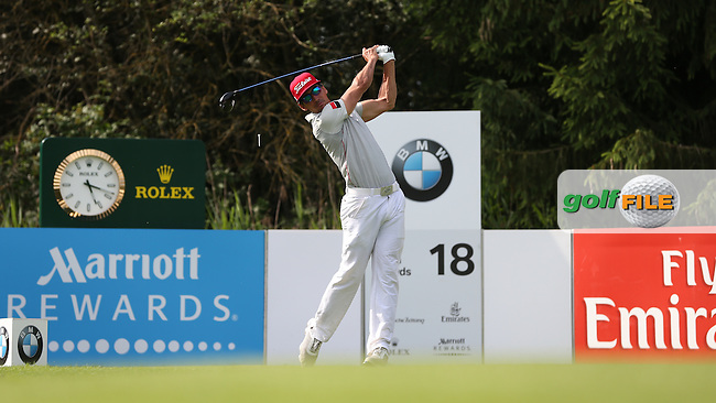 Rafa Cabrera-Bello (ESP) drives down the last during Round Three of the 2015 BMW International Open at Golfclub Munchen Eichenried, Eichenried, Munich, Germany. 27/06/2015. Picture David Lloyd | www.golffile.ie