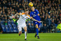 Ondrej Mazuch of Hull City and Anthony Pilkington of Cardiff City during the Sky Bet Championship match between Cardiff City and Hull City at the Cardiff City Stadium, Cardiff, Wales on 16 December 2017. Photo by Mark  Hawkins / PRiME Media Images.