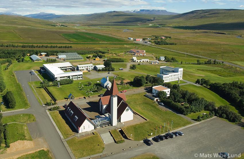 Reykholt séð til norðausturs, Borgarbyggð áður Reykholtsdalshreppur / Reykholt viewing northeast, Borgarbyggd former Reykholtsdalshreppur.