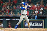 Luke Becker (10) of the Kentucky Wildcats at bat against the Houston Cougars in game two of the 2018 Shriners Hospitals for Children College Classic at Minute Maid Park on March 2, 2018 in Houston, Texas.  The Wildcats defeated the Cougars 14-2 in 7 innings.   (Brian Westerholt/Four Seam Images)