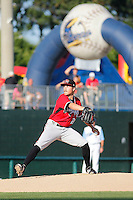 Carolina Mudcats pitcher Blair Walters (28) on the mound during a game against the Myrtle Beach Pelicans at Ticketreturn.com Field at Pelicans Ballpark on June 7, 2015 in Myrtle Beach, South Carolina. Myrtle Beach defeated Carolina 4-1. (Robert Gurganus/Four Seam Images)