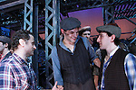 original cast member - Jeremy Jordan and Ben Fankhauser - curtain call - The Newsies Fan Day at The Paper Mill Playhouse on October 2, 2010 in Millburn, New Jersey with current cast members and cast members of the film. It was a day of events to all devoted fans of Newsies - Radio Disney at 4 pm, executive reception for members of the original cast of Newsies (the movie) followed by a talkback, Q&A in the theater - all this followed by the evening performance of Newsies with the Curtain Call, old cast meets new cast and a cast photo of all. (Photo by Sue Coflin/Max Photos)