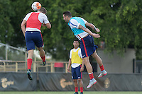Key Biscayne, FL. - Tuesday, November 10, 2015: The U.S. Men's National team trains in preparation for their 2018 World Cup Qualifying matches versus St. Vincent and the Grenadines & Trinidad & Tobago at Barry University.
