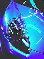 "Porsche Auto mobile. Title ""Porsche In Blue"""