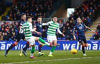1st December 2019; Global Energy Stadium, Dingwall, Highland, Scotland; Scottish Premiership Football, Ross County versus Celtic; Ryan Christie of Celtic puts in the penalty rebound in the 11th minute 1-0 to Celtic - Editorial Use