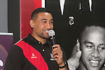 Counties Manukau Steelers Captain Jimmy Tupou shares some of his rugby experiences. Counties Manukau Rugby Unions Junior Prize giving held at ECOLight stadium on Thursday October 22nd 2015. Photo by Richard Spranger
