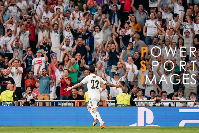 Isco Alarcon of Real Madrid celebrates after scoring his goal during the UEFA Champions League 2018-19 match between Real Madrid and Roma at Estadio Santiago Bernabeu on September 19 2018 in Madrid, Spain. Photo by Diego Souto / Power Sport Images