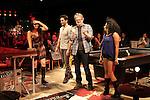 Karen Olivo, Will Swenson, John Ellison Conlee & Rebecca Naomi Jones during the Opening Night Performance Curtain Call for the Manhattan Theatre Club's 'Murder Ballad' at MTC in New York City on 11/15/2012