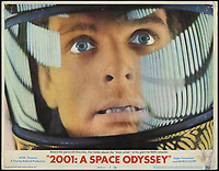 2001: A Space Odyssey (1968) <br /> Lobby card with Keir Dullea<br /> *Filmstill - Editorial Use Only*<br /> CAP/KFS<br /> Image supplied by Capital Pictures