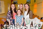 Enjoying theBallybunion Fashion Show in aid of  St Joseph's Secondary school at Tintean Theatre on Thursday were Saoirse Doyle, Ava Doyle, Katie Doyle, Kerry Ann Doyle from Asdee