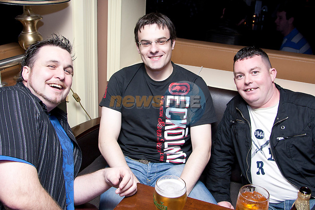 Dave Clarke, Brian Walsh and Mark Kierans out in Barocco..Photo: Shane Maguire/Newsfile.ie