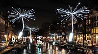 Nederland Amsterdam - december 2018. Amsterdam Light Festival. Light a Wish.  Foto Berlinda van Dam / Hollandse Hoogte