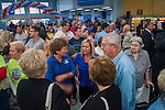Customers, politicians, guests, and employees gather inside the Walmart in Westerville, Ohio, before the store's grand opening.