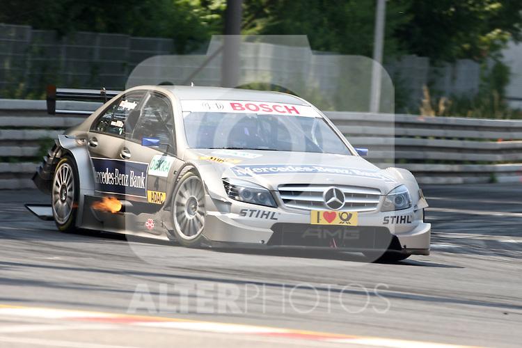 02.07.2010, Norisring, Nuernberg, GER, 4. DTM Lauf Norisring 2010, im Bild.Bruno Spengler (Mercedes-Benz Bank AMG).Foto: nph /  News