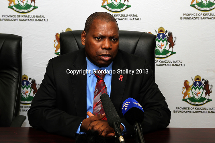 DURBAN - 19 February 2013 - KwaZulu-Natal premier Dr Zweli Mkhize outlines what will be discussed at a conference involving provincial government leaders, local government leaders and heads of parastatals. Mkhize was recently elected treasurer general of South Africa's ruling party, the African National Congress.  Picture: Giordano Stolley/Allied Picture Press/APP