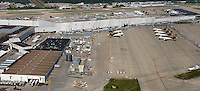 aerial photograph,Worldport, UPS air hub,  Louisville International Airport, Sandiford Field, SDF, Louisville, Kentucky