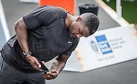 RIO DE JANEIRO, RJ, 04.06.2016 - MANO A MANO - Atleta norte americano, atual vice campeão olímpico, Justin Gatlin, corre durante os treinos para o desafio Mano a Mano, na Quinta da Boa Vista, na manhã deste sábado, 04. (Foto: Jayson Braga/Brazil Photo Press)