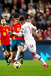 Spain's Marco Asensio and Norway's Omar Elabdellaoui  during the qualifying match for Euro 2020 on 23th March, 2019 in Valencia, Spain. (ALTERPHOTOS/Alconada)