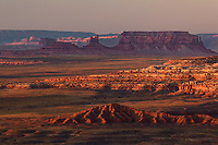 View of the Goosenecks and distant Monument Valley from Muley Point, San Juan County, Utah